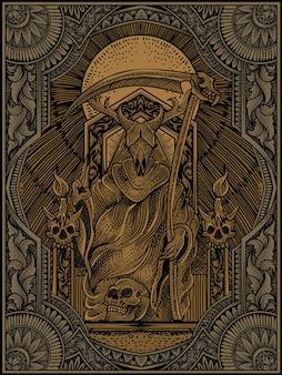 Koning van satan illustratie