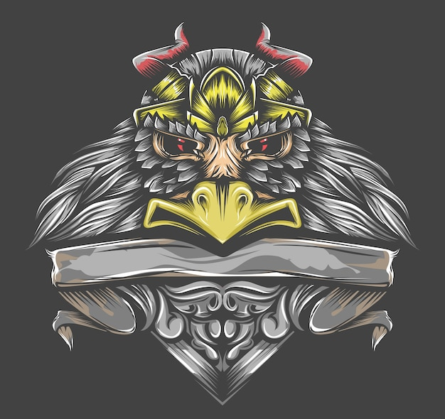 Koning vogel illustratie