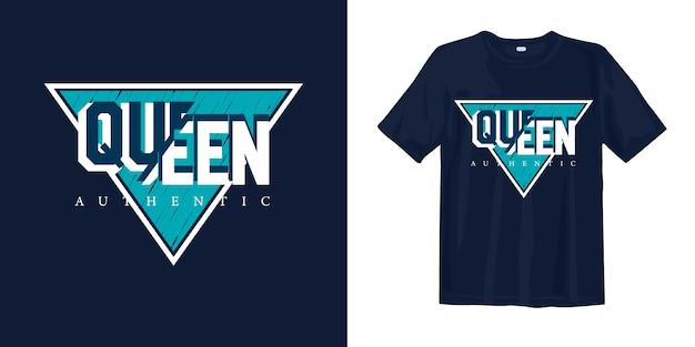 Koningin authentiek t-shirtontwerp