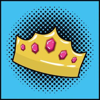 Koningin-kroon pop-artstijl