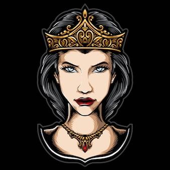 Koningin met kroon