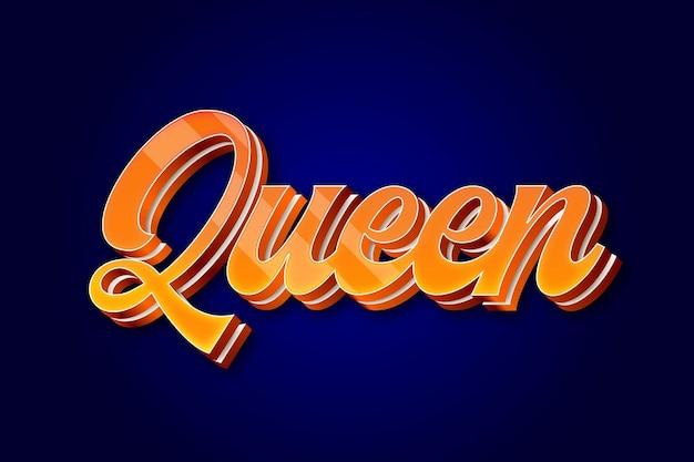 Koningin teksteffect bewerkbaar