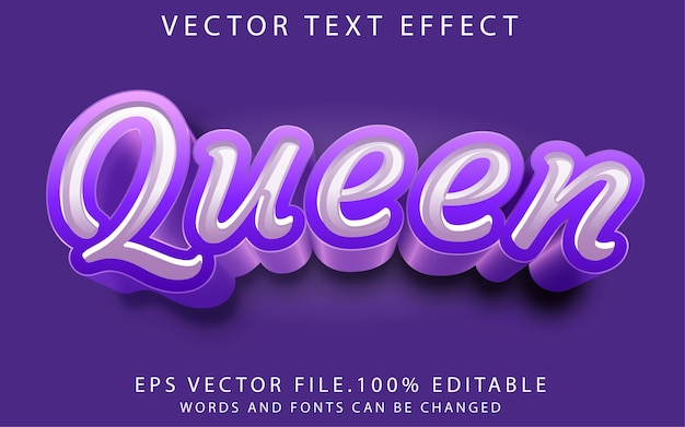 Koningin teksteffect