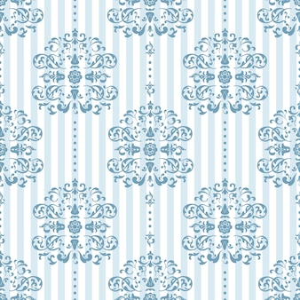 Koningsblauw en wit patroon