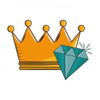 Koningskroon en diamant