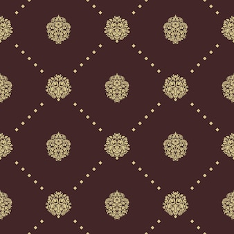Koninklijk barok naadloos patroon. decoratief ornament als achtergrond, ontwerp