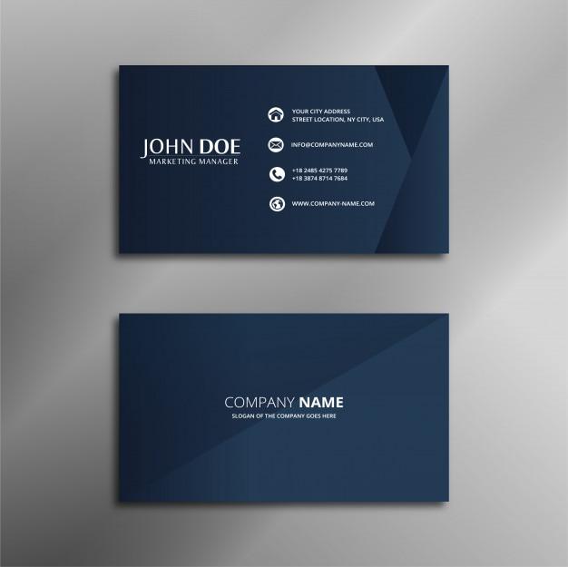 Koninklijk blauw eenvoudig adreskaartje ontwerp