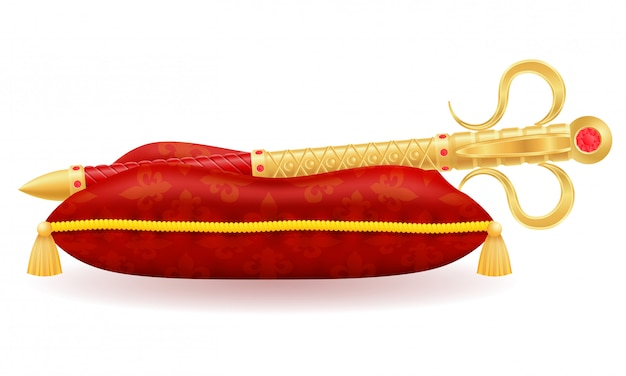 Koninklijk gouden sceptersymbool van de staatsmacht vectorillustratie