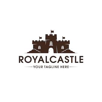Koninklijk kasteel logo sjabloon