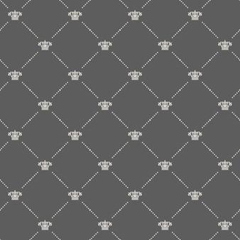 Koninklijk naadloos patroon in oude stijl