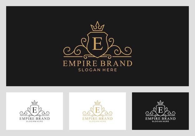 Koninklijk, rijk, koninkrijk logo ontwerp vector