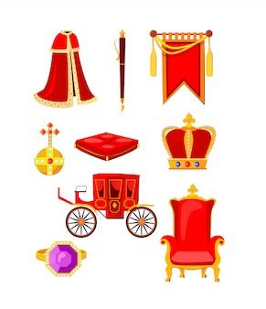 Koninklijke accessoires ingesteld