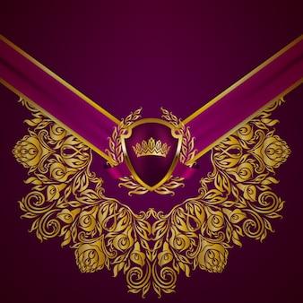 Koninklijke achtergrond met ornament