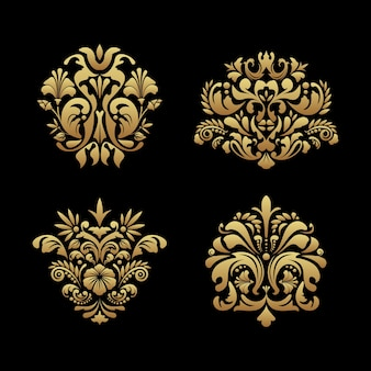 Koninklijke achtergrondelementen. klassiek ornamentontwerp, victoriaans luxe barok decor, vectorillustratie
