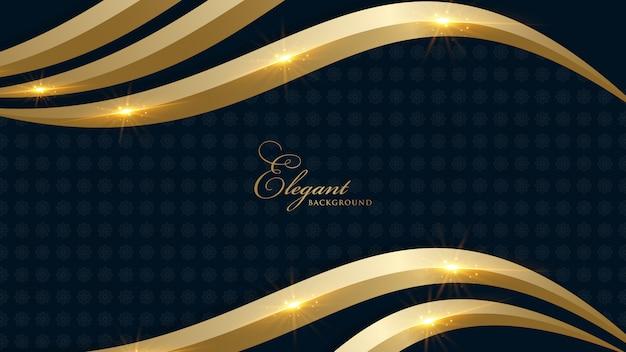 Koninklijke gouden achtergrond zwart
