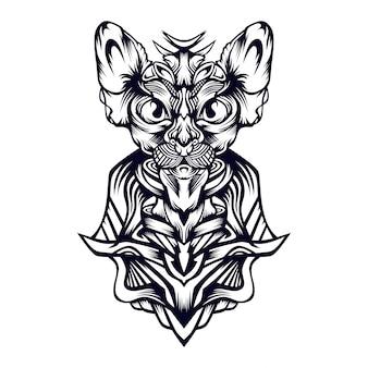 Koninklijke kat illustratie
