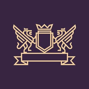 Koninklijke leeuw logo sjabloon