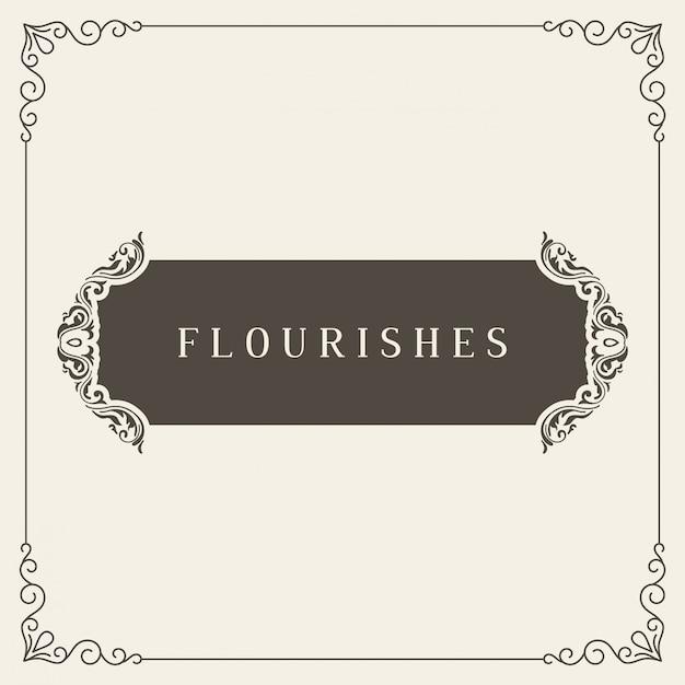 Koninklijke logo ontwerpsjabloon vector decoratie, bloeit kalligrafische elegante sieraad frame lijnen. goed voor luxe.