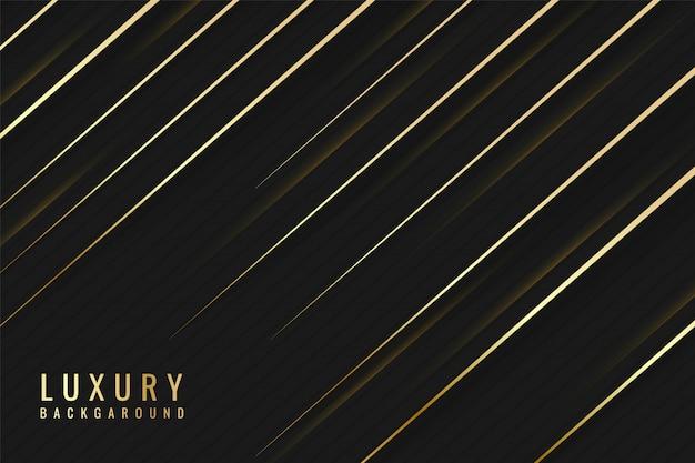 Koninklijke luxe abstracte zwarte achtergrond met diagonale lijnen