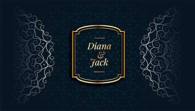 Koninklijke mandala decoratieve islamitische stijl patroon achtergrond