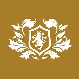Koninklijke merk en luxe logo ontwerpsjabloon