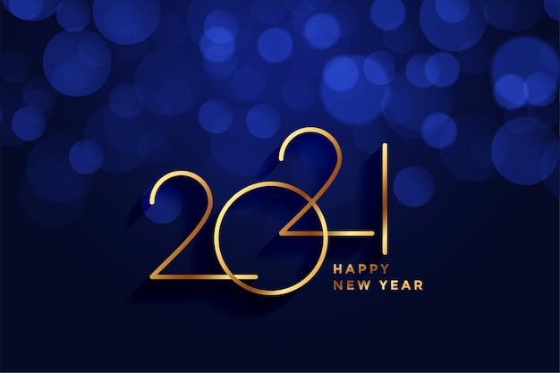 Koninklijke stijl gelukkig nieuwjaar 2021 gouden achtergrond