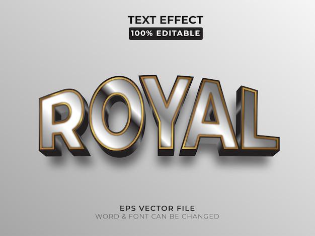 Koninklijke teksteffectstijl bewerkbaar teksteffect