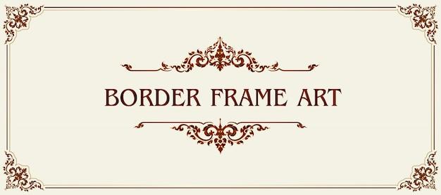 Koninklijke vintage frame en rand