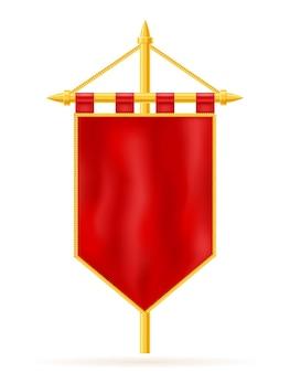 Koninklijke vlag realistische sjabloon lege blankn geïsoleerd op wit