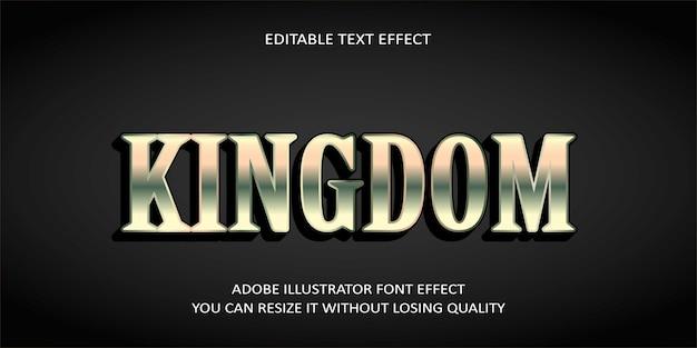 Koninkrijk bewerkbare tekst effect
