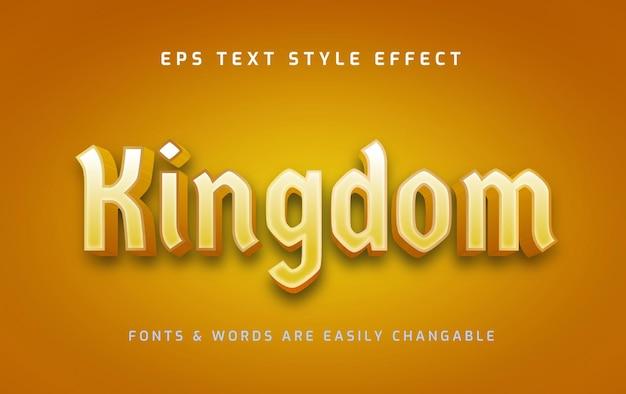 Koninkrijk historisch gouden teksteffect