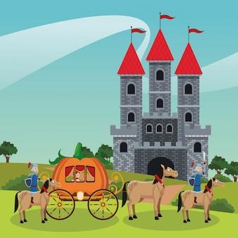 Koninkrijk middeleeuwse krijgers