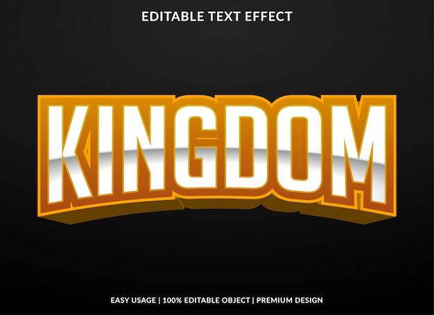 Koninkrijk tekst effect sjabloon