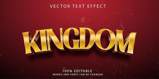 Koninkrijk teksteffecten stijlsjabloon