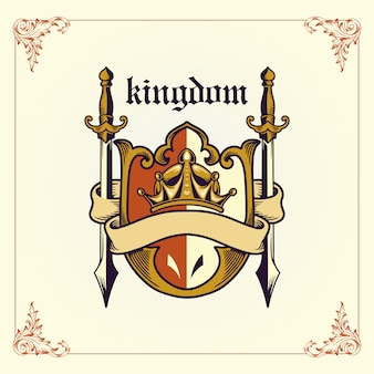 Koninkrijk wapen met lint