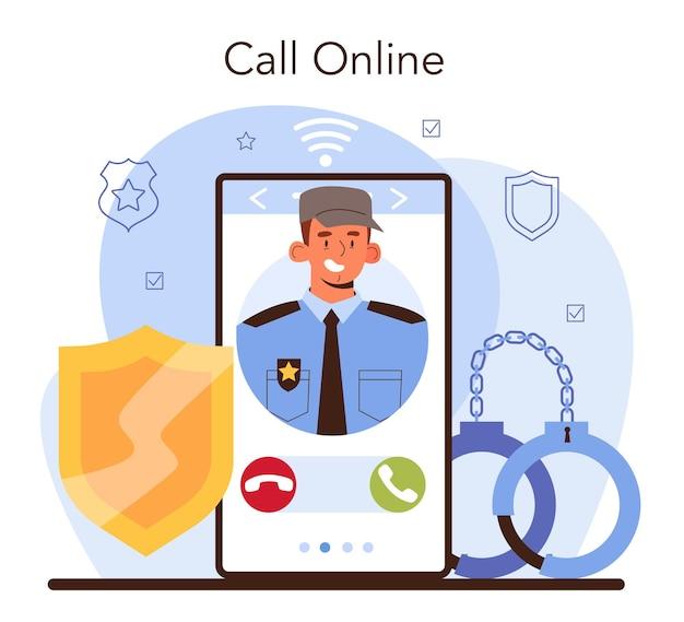 Konvooi online service of platform. vervoer van een crimineel