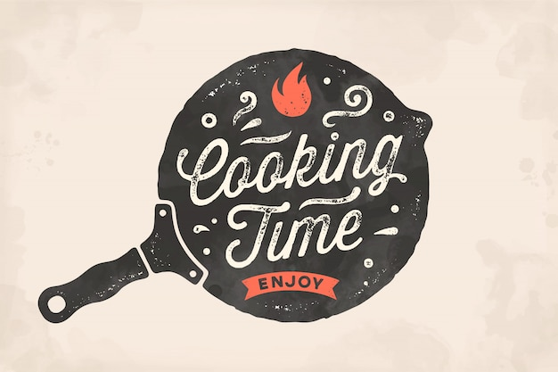 Kooktijd. keuken poster. keuken wall decor, teken, offerte
