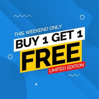 Koop 1 krijg 1 gratis bannerontwerpsjabloon
