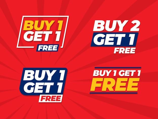 Koop 1 krijg 1 gratis bannersjabloon