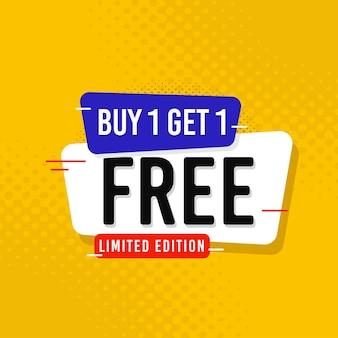 Koop 1 krijg 1 gratis verkoop bannersjabloon