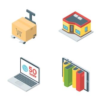 Koop en verkoop pictogrammen