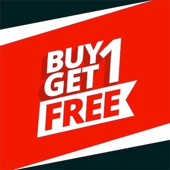 Koop er een en krijg een gratis verkoop achtergrondontwerp