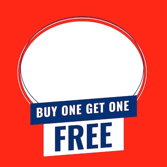 Koop er een en ontvang een gratis banner met ruimte om een productafbeelding toe te voegen