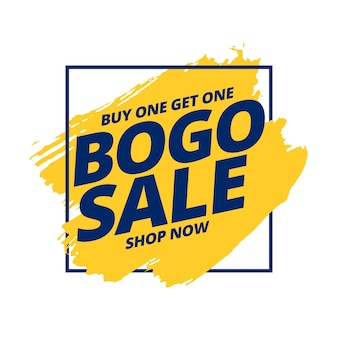 Koop er een en ontvang een gratis bogo-uitverkoopbanner