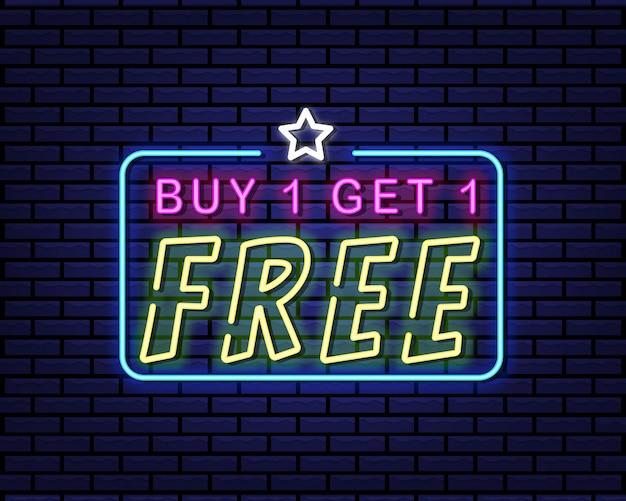 Koop er een ontvang een gratis neonreclame