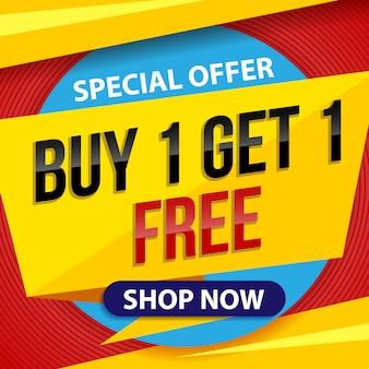 Koop gratis verkooplabel. speciale aanbieding sticker