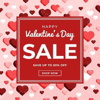 Koop nu een platte valentijnsdagverkoop