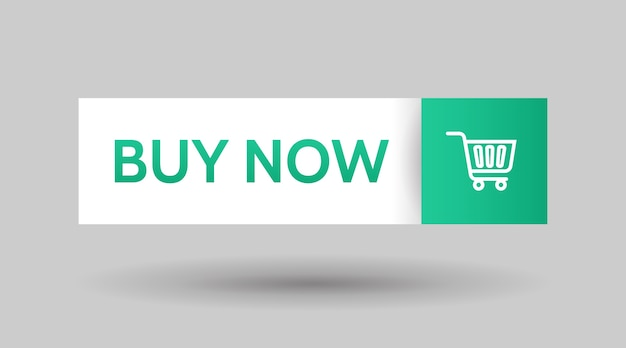 Koop nu, knop sjabloonontwerp. zakelijke banner. winkelwagen trolley tekenen. gebruikersinterface-element.