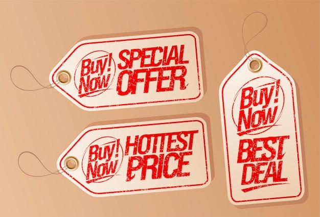 Koop nu speciale aanbieding tags set - heetste prijs, beste deal en speciale aanbieding