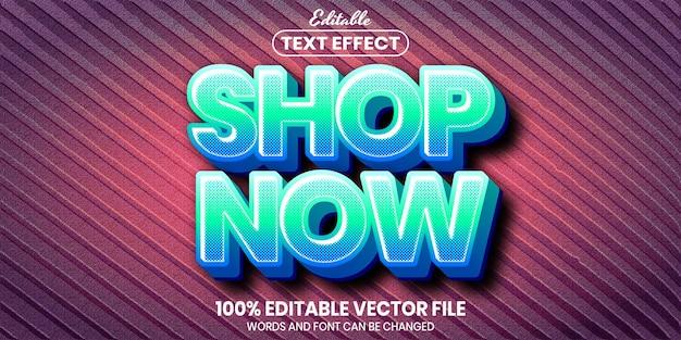 Koop nu tekst, bewerkbaar teksteffect in lettertypestijl